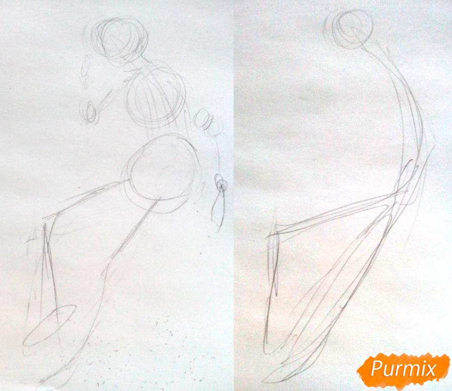 Рисуем девушку-кошку по шагам - шаг 1