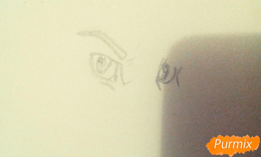 Рисуем и раскрасить фурри парня карандашами - шаг 1