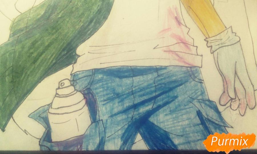 Рисуем и раскрасить фурри парня карандашами - шаг 12