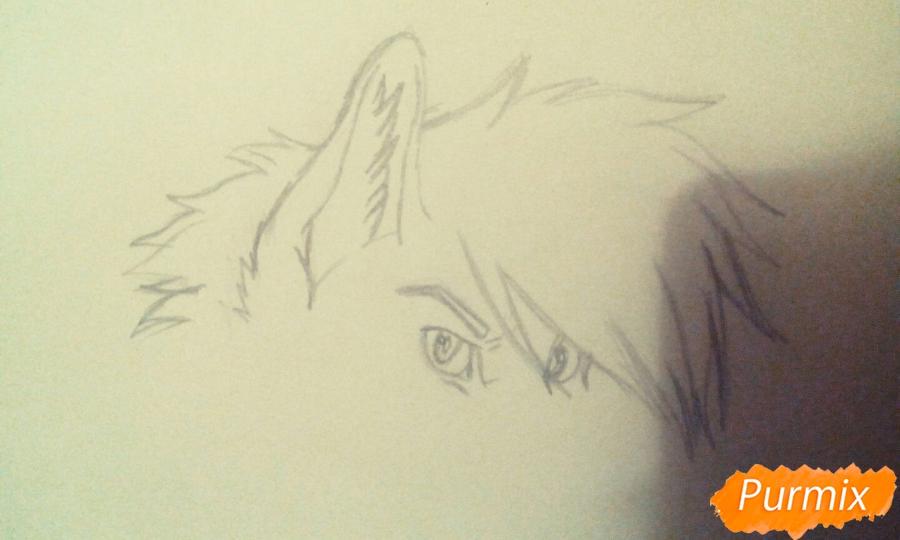 Рисуем и раскрасить фурри парня карандашами - шаг 2