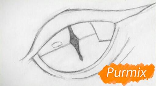 Рисуем глаз дракона - шаг 2