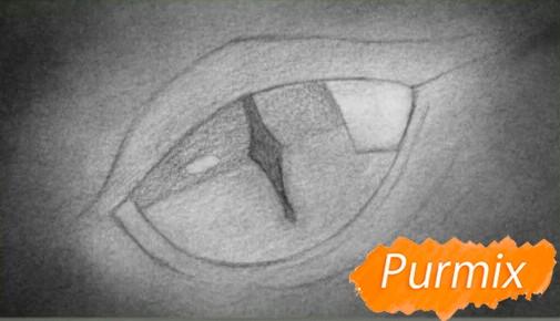 Рисуем глаз дракона - шаг 3