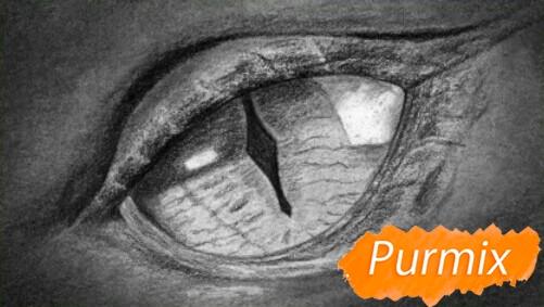 Рисуем глаз дракона - шаг 5