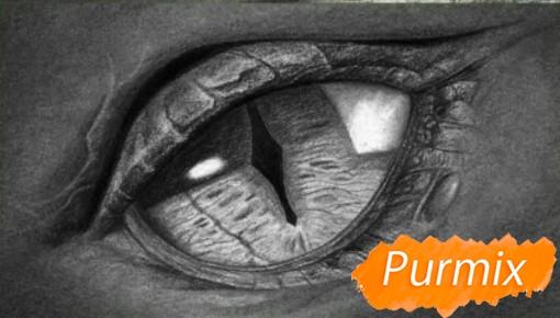 Рисуем глаз дракона - шаг 6