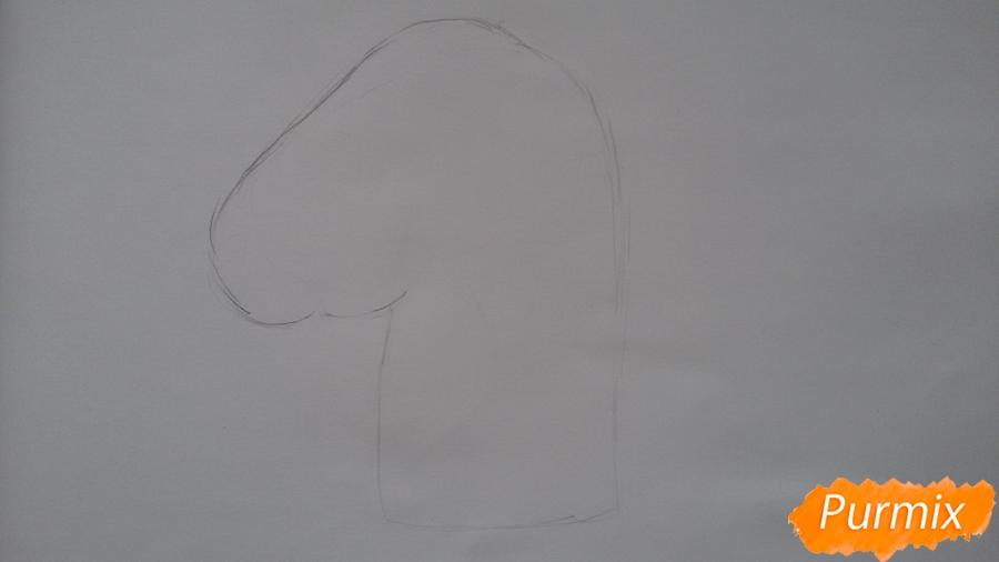 Рисуем голову единорожка - шаг 1