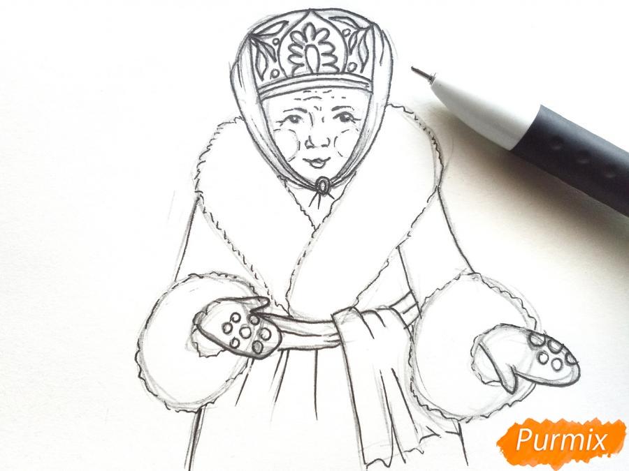 Рисуем матушку зиму - шаг 5