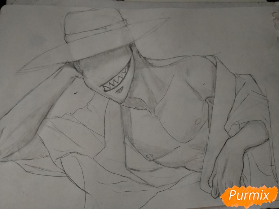 Рисуем Оффендермена карандашами - шаг 10