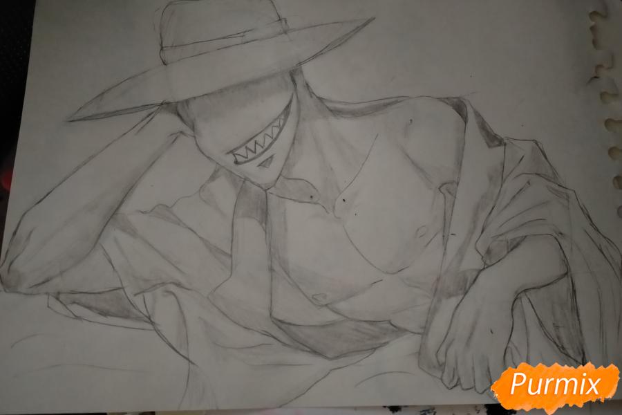Рисуем Оффендермена карандашами - шаг 11