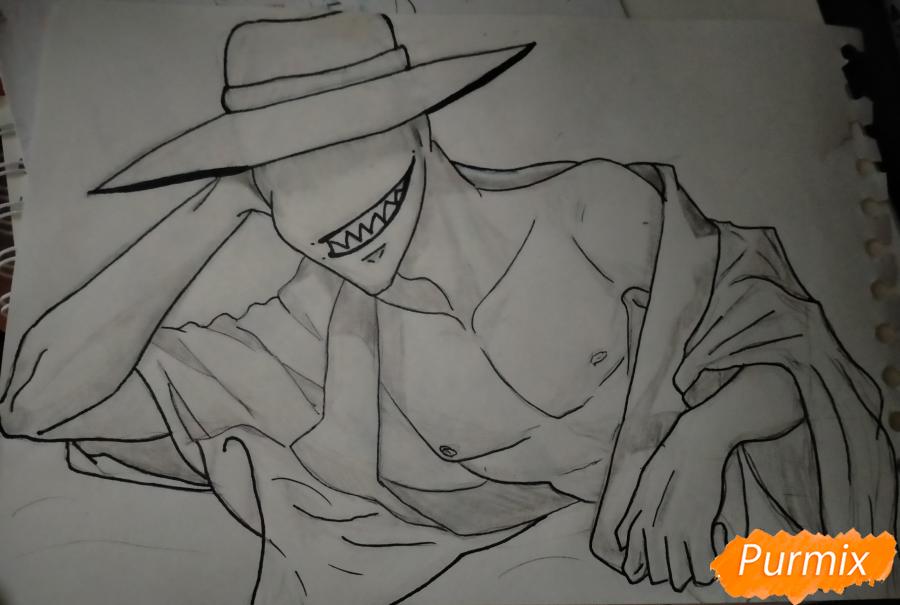 Рисуем Оффендермена карандашами - шаг 12