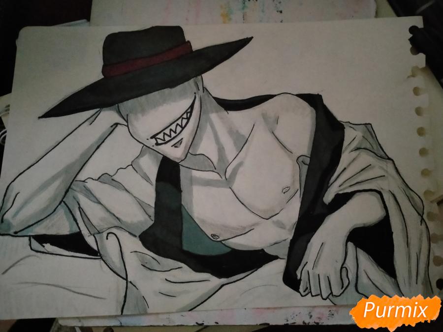 Рисуем Оффендермена карандашами - шаг 14