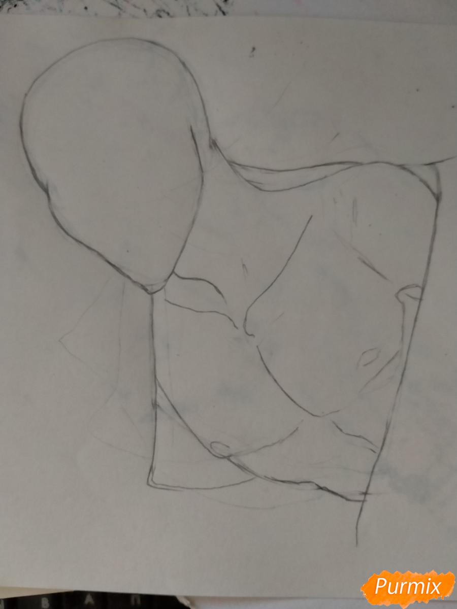 Рисуем Оффендермена карандашами - шаг 3