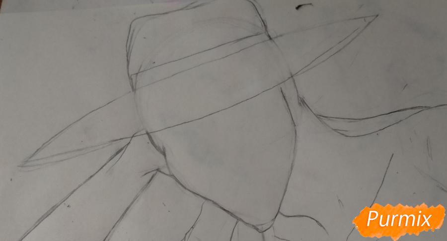 Рисуем Оффендермена карандашами - шаг 7