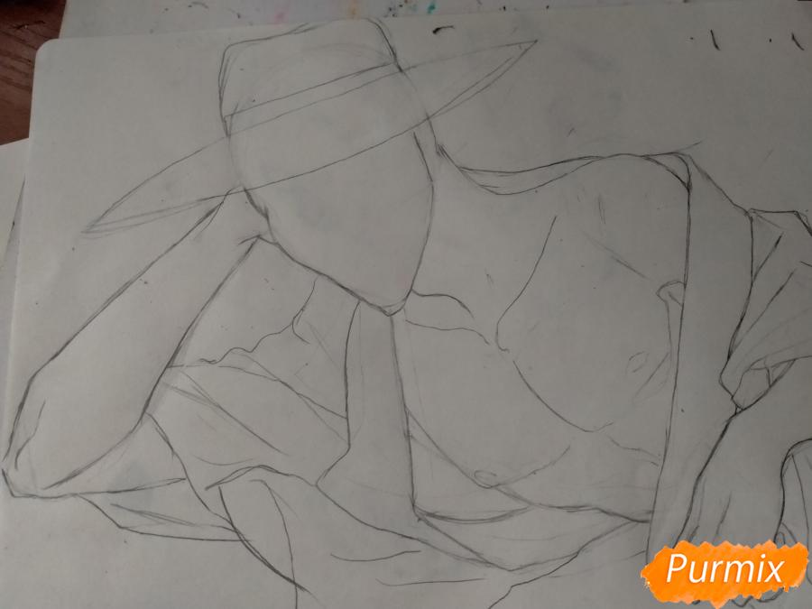 Рисуем Оффендермена карандашами - шаг 8