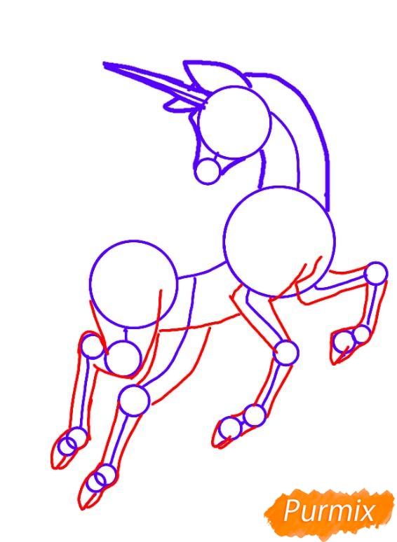 Как просто нарисовать единорога - шаг 3