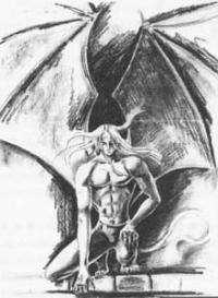Демона карандашом