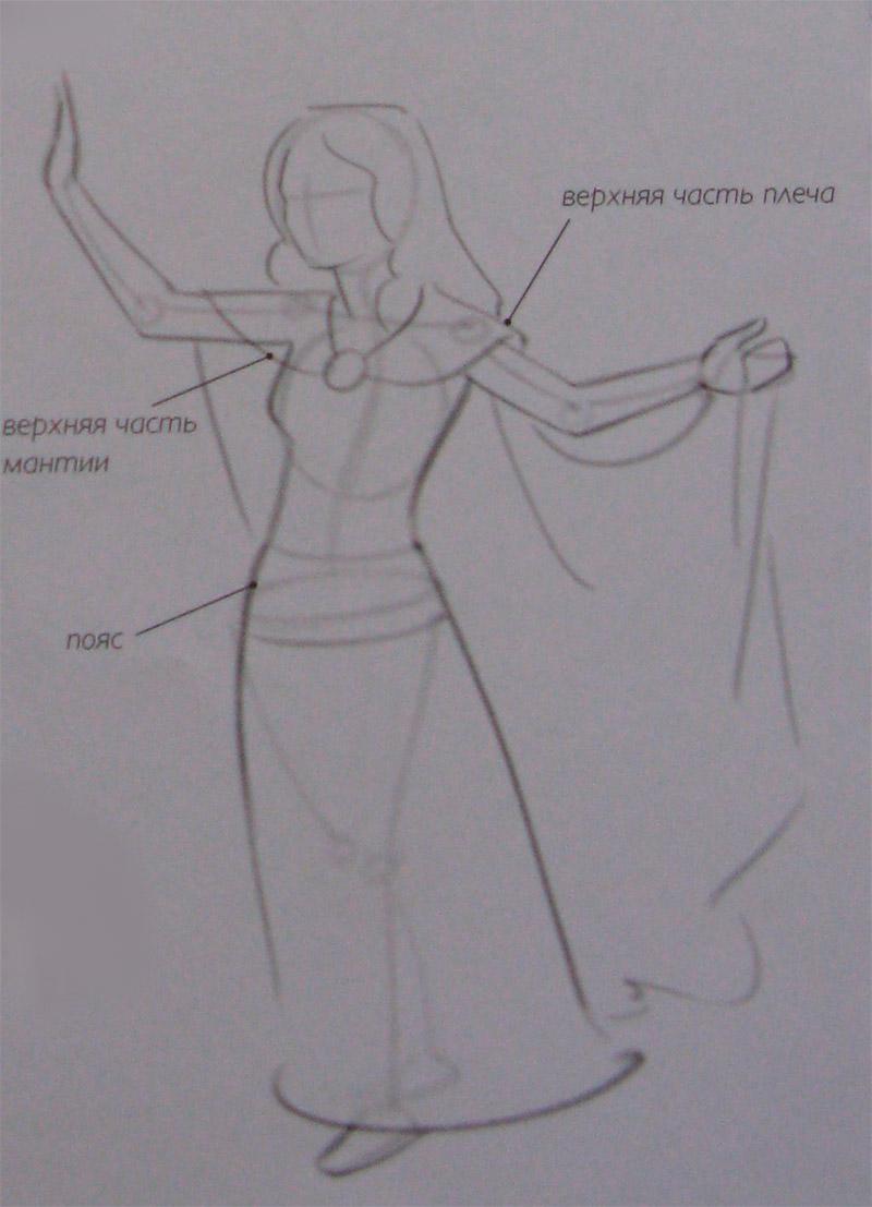 Рисуем девушку эльфа - шаг 2