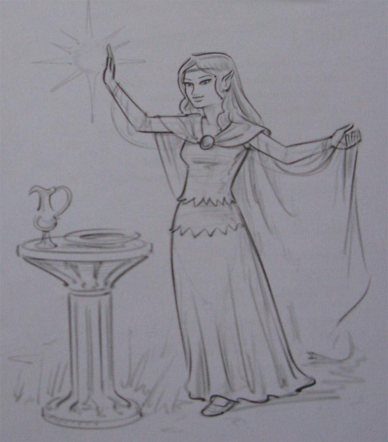 Рисуем девушку эльфа - шаг 4