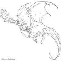 Ездового дракона карандашом