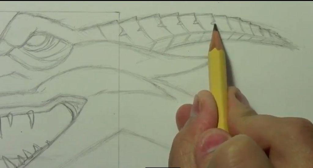 Рисуем реалистичную голову дракона
