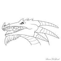 голову рогатого Дракона карандашом
