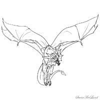Летающего дракона карандашом