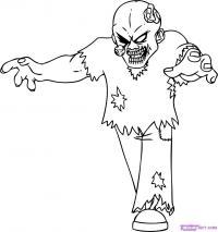 мультяшного зомби