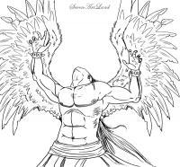 Падшего Ангела карандашом