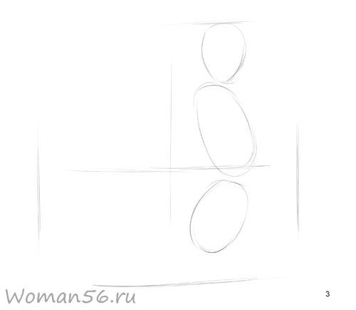 Рисуем русалку - шаг 3