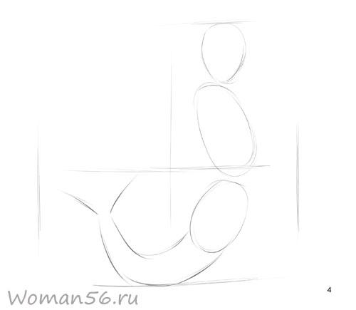 Рисуем русалку - шаг 4