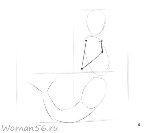Рисуем русалку - шаг 5