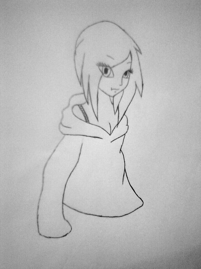 Рисуем симпатичную Нину убийцу из крипипасты - шаг 7