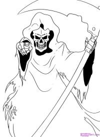 смерть с косой карандашом