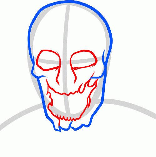 Как нарисовать страшного зомби на бумаге карандашом