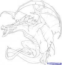 Как научиться рисовать дракона карандашом