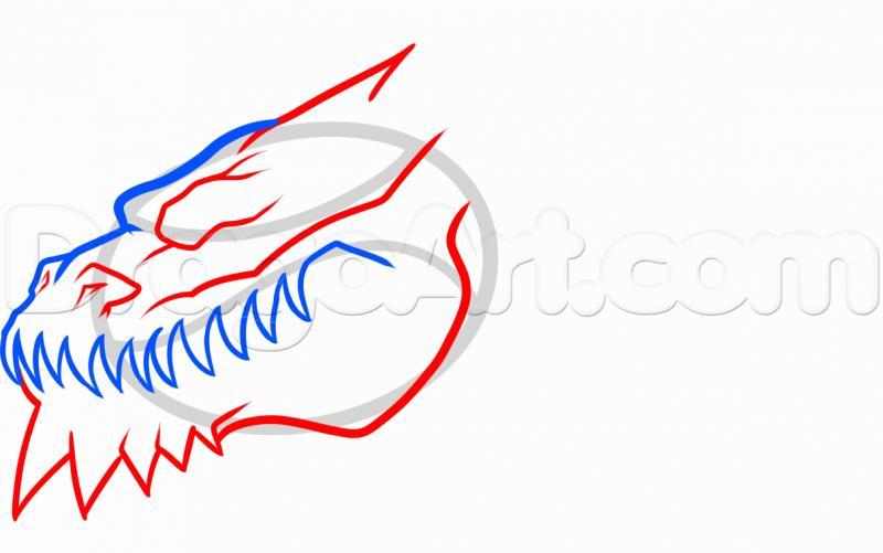 Как просто нарисовать голову дракона на бумаге