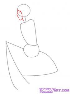 Рисуем девушку эльфа сидя на грибе - шаг 2