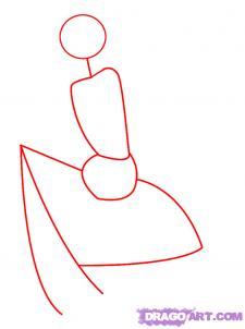 Рисуем девушку эльфа сидя на грибе - шаг 1