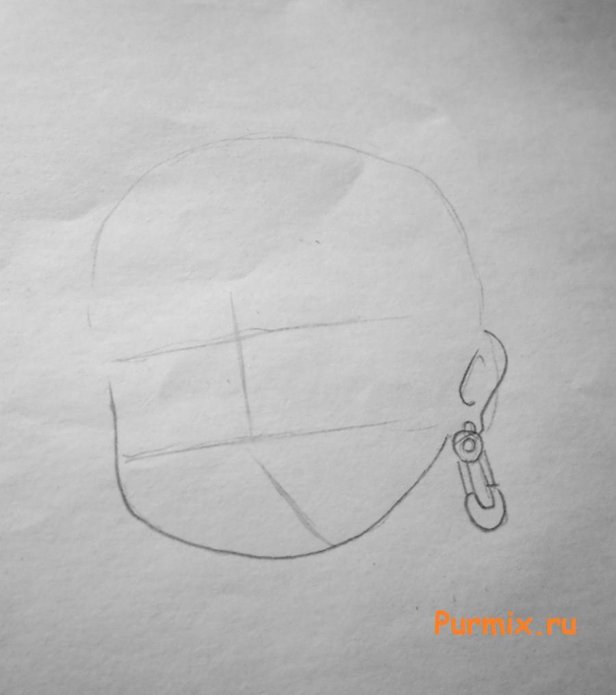Рисуем Дракулауру в аниме стиле - шаг 1