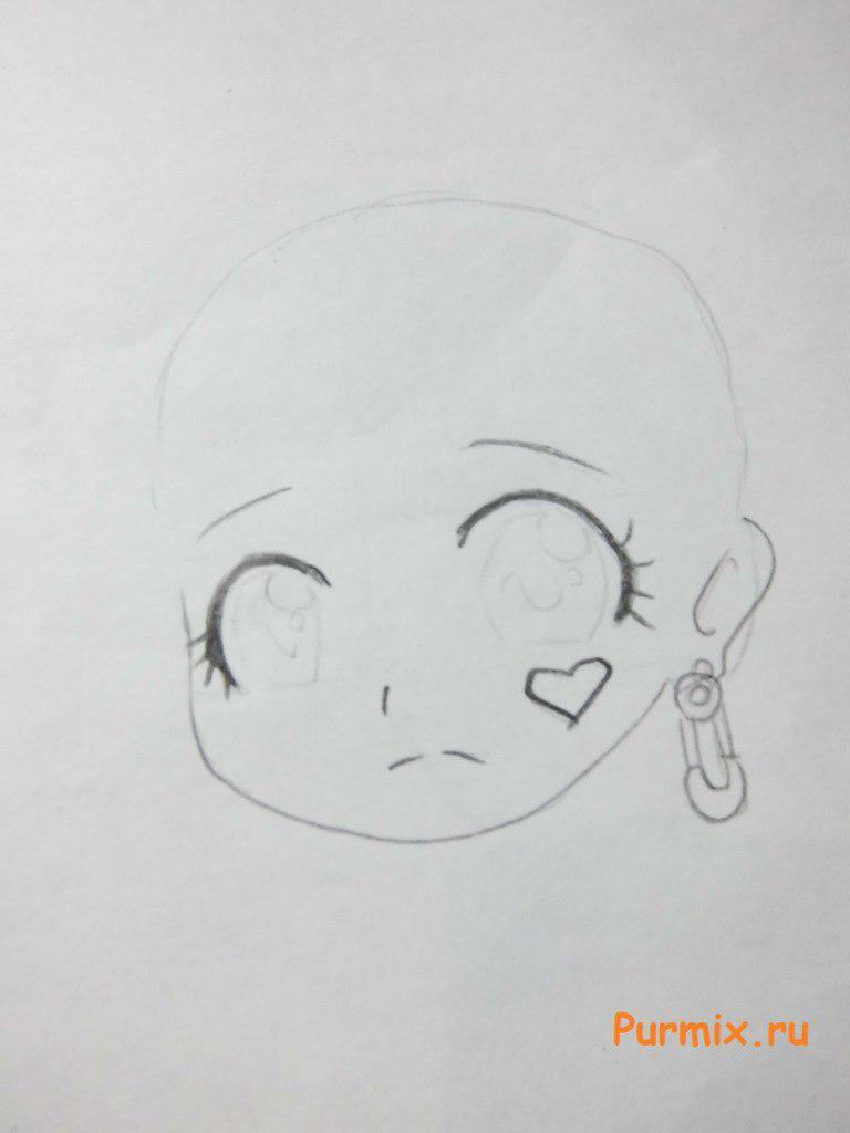 Рисуем Дракулауру в аниме стиле - шаг 2