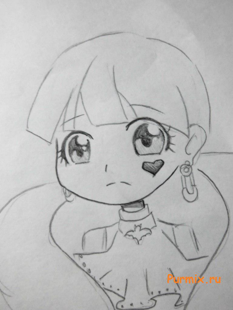 Рисуем Дракулауру в аниме стиле - шаг 5