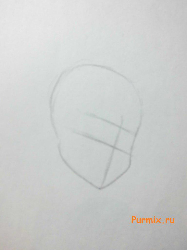 Рисуем портрет Фрэнки Штейн - шаг 1