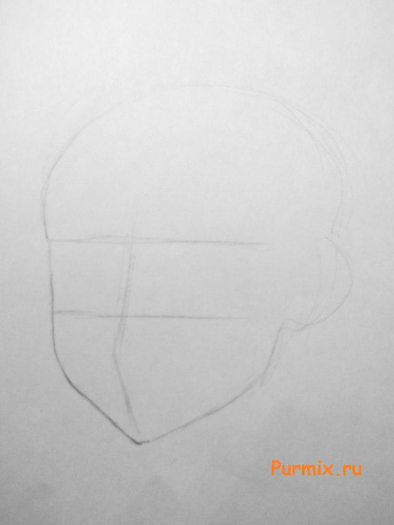Рисуем лицо Лагуны Блю - шаг 1