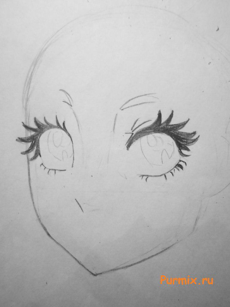 Рисуем лицо Лагуны Блю - шаг 2