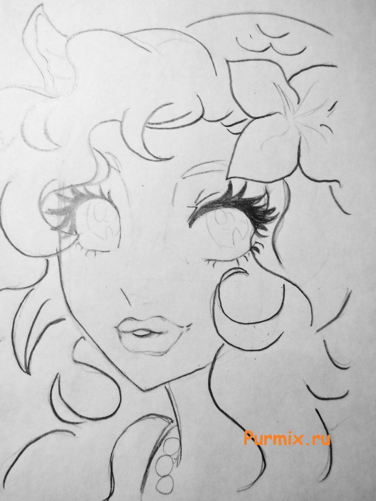Рисуем лицо Лагуны Блю - шаг 4