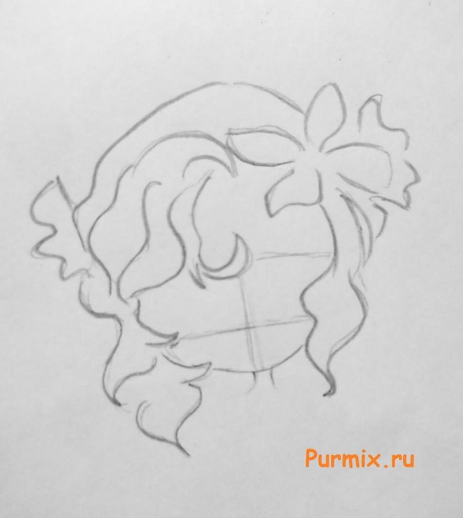 Рисуем Лагуну Блю в чиби стиле - шаг 1