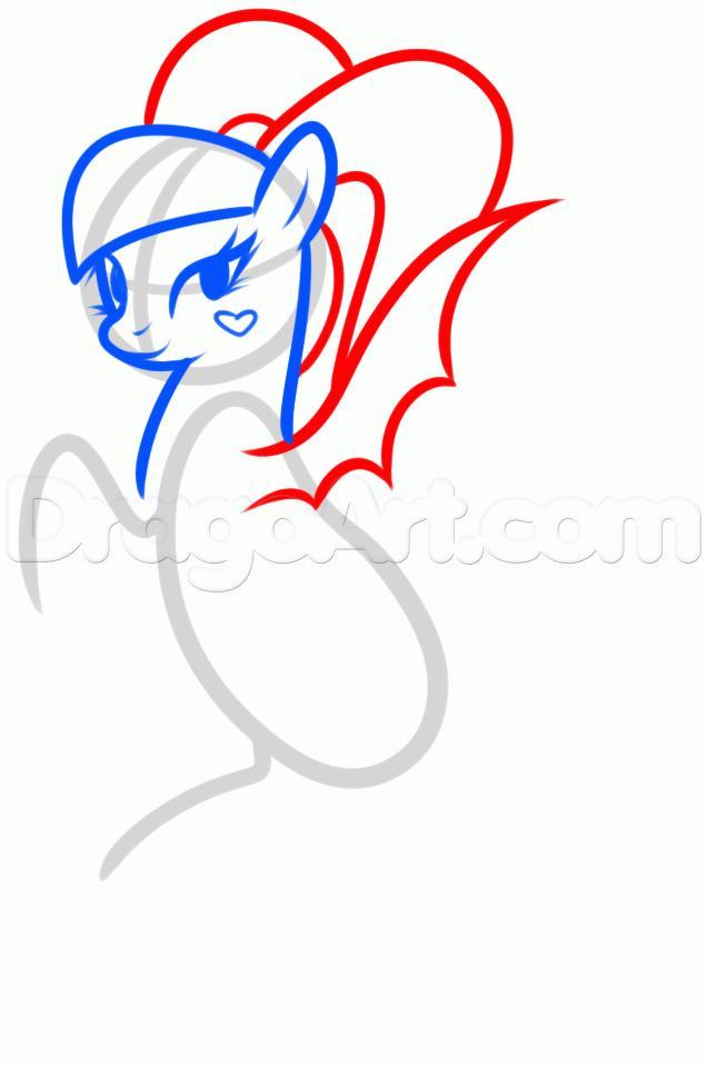 Рисуем Дракулауру пони - шаг 4