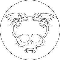 знак Дракулауры из Монстр Хай карандашом