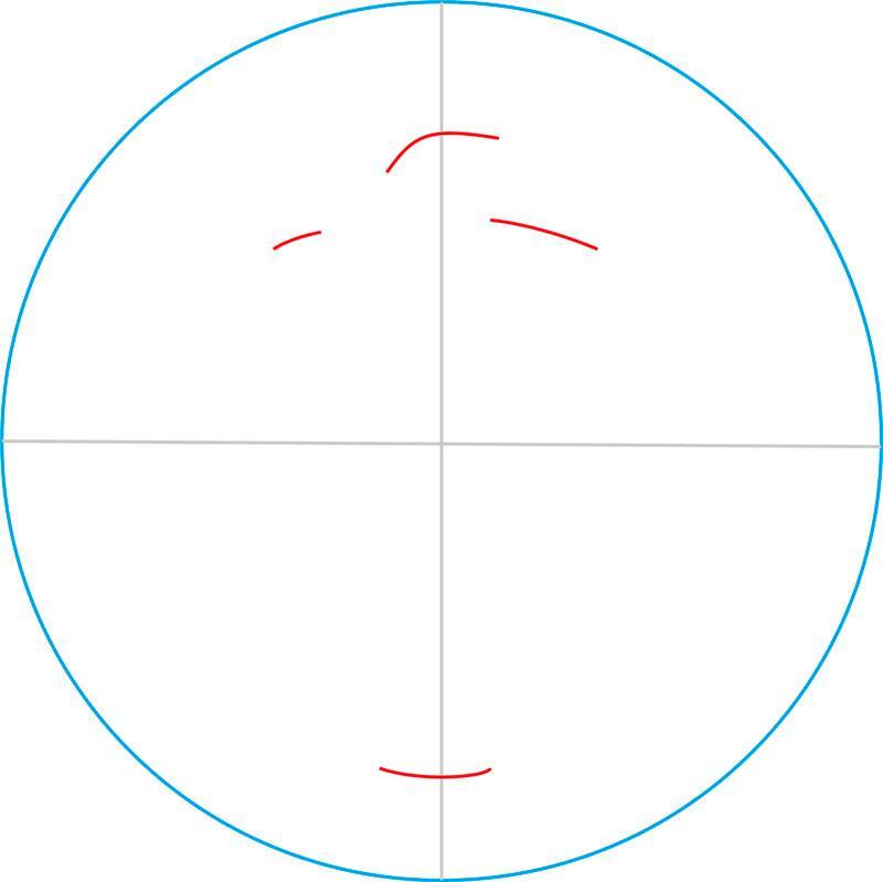 Рисуем знак Клодина Вульфа - шаг 2