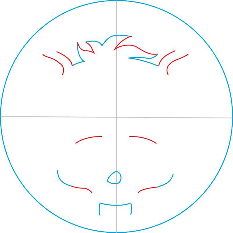 Рисуем знак Клодина Вульфа - шаг 4