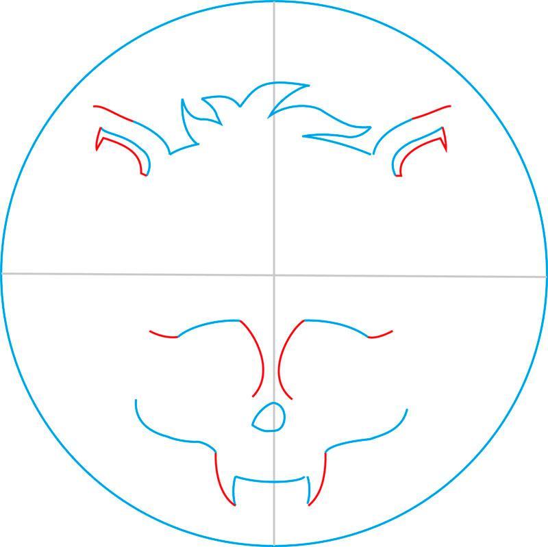 Рисуем знак Клодина Вульфа - шаг 5